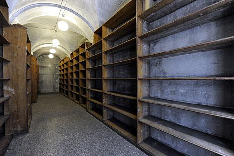 Eine Ansicht der Räume des ehemaligen k.k.Hofkammerarchivs in der Wiener Hofburg. Die Österreichische Nationalbibliothek plant in den Räumlichkeiten die Errichtung eines Literaturmuseums.