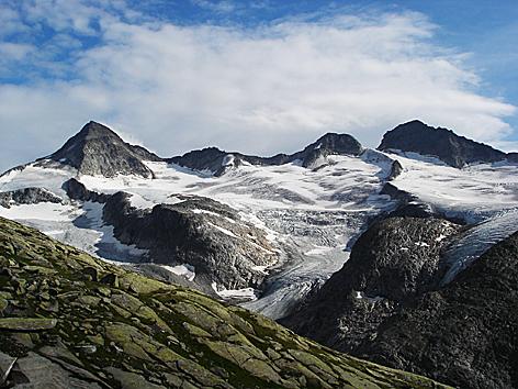 Großvenedigergruppe Gletscher Eis Klimawandel Hohe Tauern Klimawandel Perfmafrost Gletschereis Glaziologie Meteorologie Hochgebirge Gebirge Großer Geiger Alpen Ostalpen