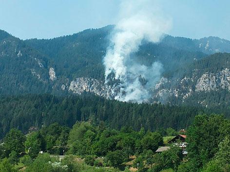 Waldbrand Hermagor
