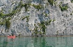 Klettern Felsklettern Falkensteinwand Wolfgangsee Sportklettern Alpinklettern Alpinismus Klettersport Berge Gebirge Alpen Falkenstein Seenot