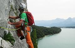 Falkensteinwand Kletterer Alpin Klettern