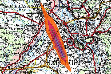 Fluglärmkarte Salzburg