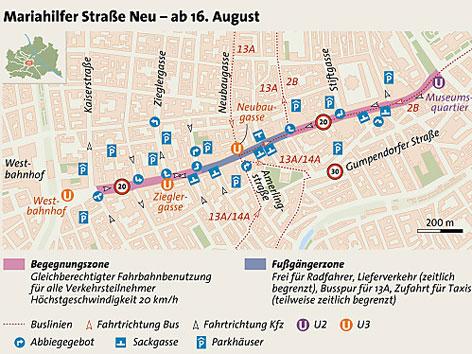 Grafik Mariahilfer Straße Neu