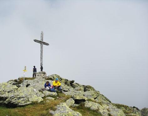 Gipfel mit Gipfelkreuz