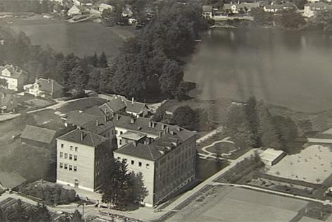 Altes Foto von Allentsteig in schwarz-weiß