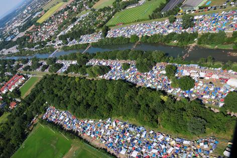 Festival von oben