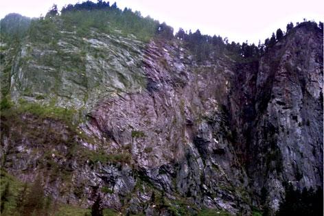 Kletterwand  in Ginzling im Zillertal
