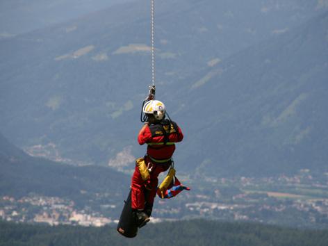Rettungsaktion Christophorus 11 Hubschrauber
