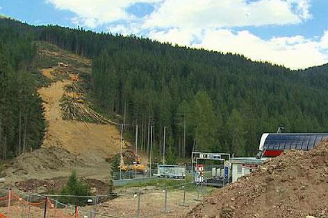 Rodungsarbeiten für Skiverbindung Südtirol
