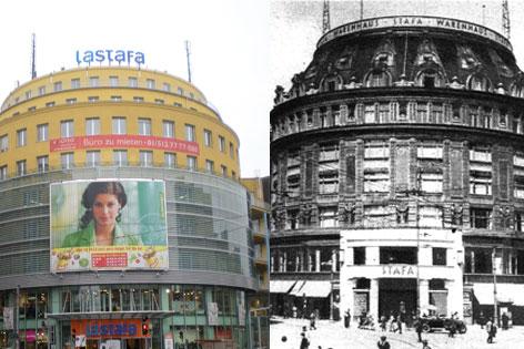 Kaufhaus Stafa einst und jetzt
