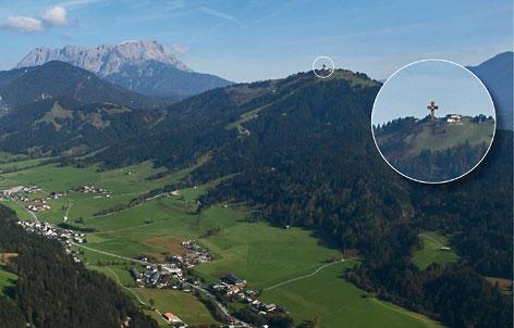 Visualisierung des Kreuzes in der Landschaft