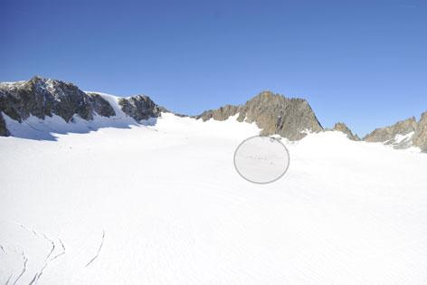 Lüsener Ferner Wrackteile Gletscher