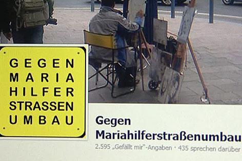 Facebook-Protest von Anrainern gegen Fußgängerzone Mariahilfer Straße