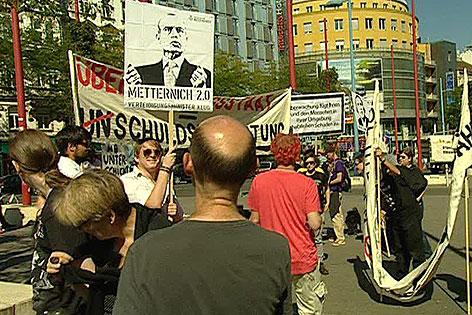 Demonstration für Datenschutz in Wien