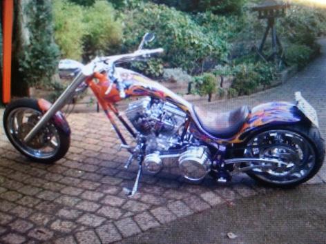 Gestohlene Harley Davidson