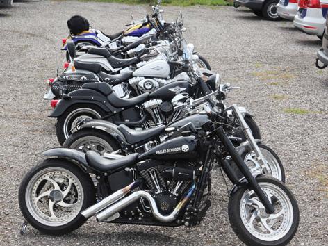 Sichergestellte Harleys