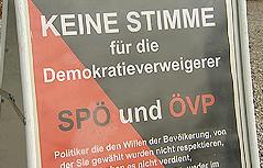 Plakat der Gemeindeinitiative