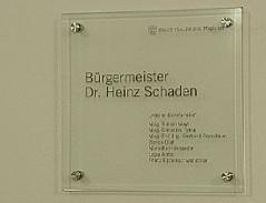 Bürgermeister Büro Heinz Schaden Magistrat Finanzskandal