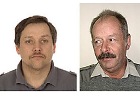 Erschossener Polizist Johann Ecker (links) und toter Rot-Kreuz-Mitarbeiter Johann Dorfwirth