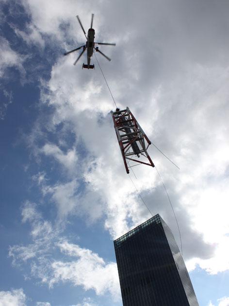 Antenne, DC Tower, Hubschrauber
