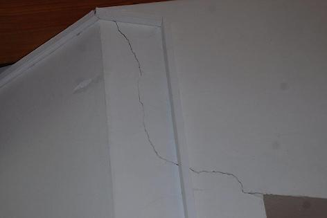 leichte Schäden nach Erdbeben