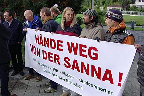 Pläne für Kraftwerk an der Sanna mit PK, Gegnern und Bach