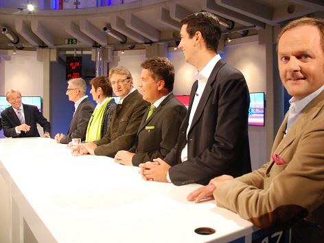Spitzenpolitiker bei Nationalratswahl im ORF Landesstudion Salzburg