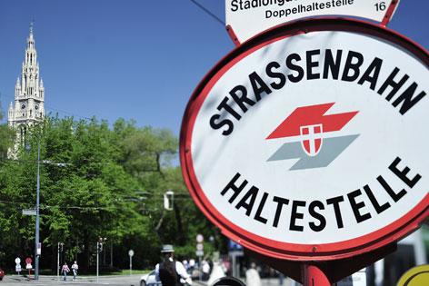 Straßenbahn Haltestellenschild