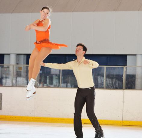 Miriam Ziegler und Severin Kiefer im Paarlauf-Training