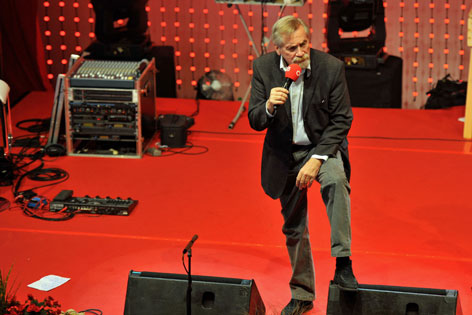 Peter Rapp beim ORF Radio Tirol Oktoberfest nach Herzinfarkt