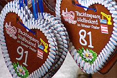 Lebkuchenherzen mit Nummern