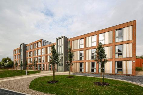 Grafik von Studentenwohnheim von Elk in Oxford