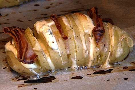Kartoffelfaecher im Backrohr