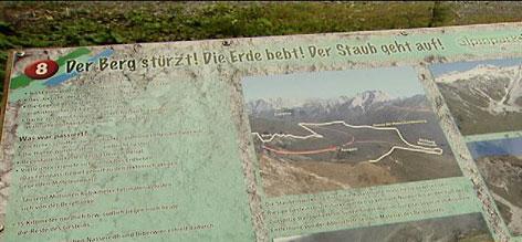 Informationstafel Fernpass-Bergsturz