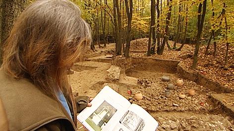Ausgrabung des römischen Millionärgrabs in Sigleß