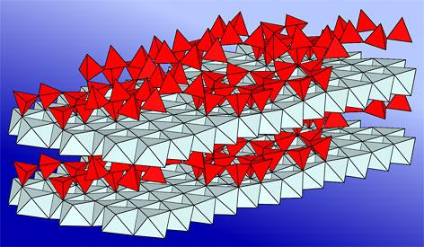 Struktur des Minerals Innsbruckit