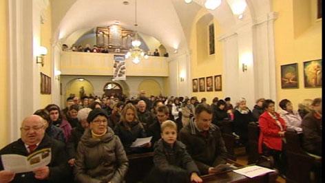 Templombelső - szentmise Alsóőr