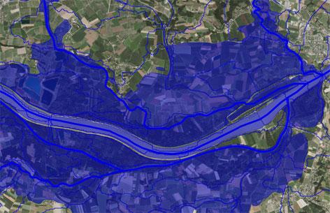 Ausschnitt aus einer Karte von DORIS