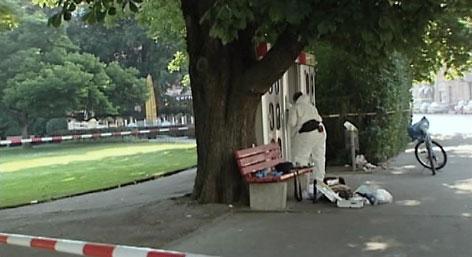 Telefonzellen und Ermittlungen am Tatort des Mordes von Daniela Kammerer