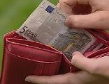 GEldbörse offen mit 5 Euro