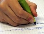 Schüler beim Schreiben