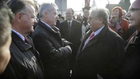 Rudi Sarközi und BP und LH