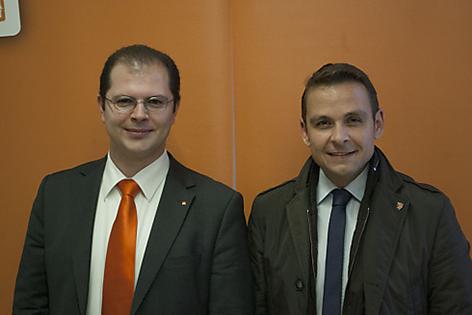 Dominik Lutz und Gerald Grosz