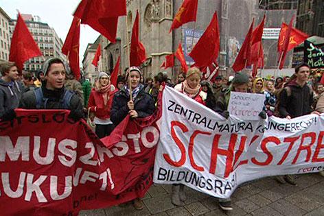 Schüler bei einer Demonstration