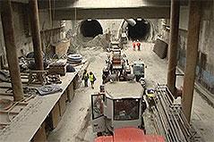 Bauarbeiten in U-Bahn-Tunnel in Favoriten