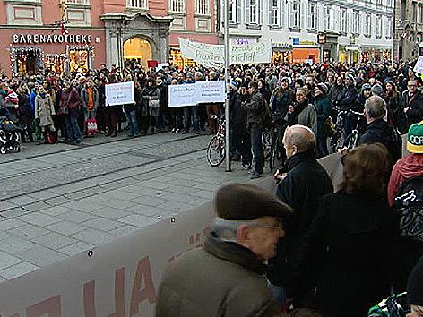 Protestmarsch Lehrer Graz