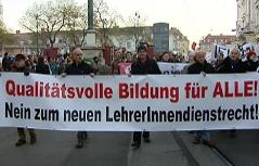 Protestmarsch Lehrer Graz Plakat