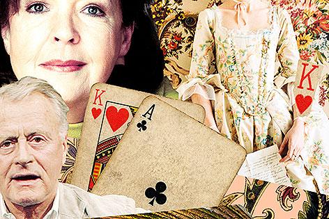 Kartenspiel und Lohner und Trissenaar