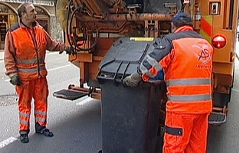 Müllabfuhr in der Stadt Salzburg