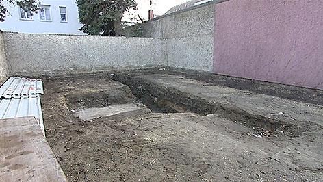 Reste der Synagoge in Frauenkirchen